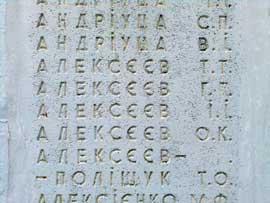 Фамилии погибших во время Корсунь-Шевченковской операции