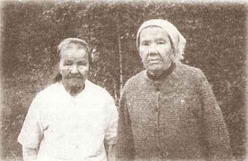 Сестры Валентина и Лидия Мартюхины