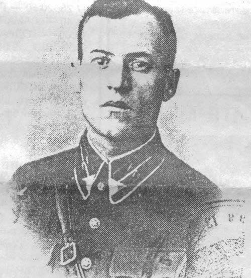 Командир разведывательно-диверсионной группы 83-го пограничного отряда капитан А.П. Брехов